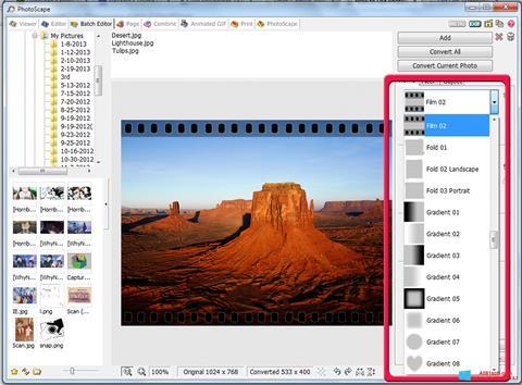 Petikan skrin PhotoScape untuk Windows 8.1