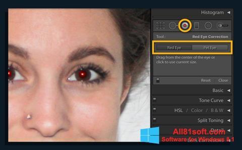 Petikan skrin Red Eye Remover untuk Windows 8.1