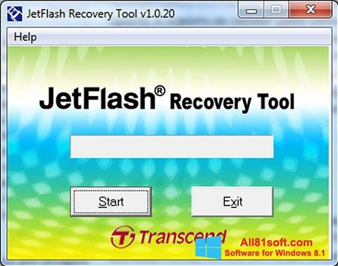 Petikan skrin JetFlash Recovery Tool untuk Windows 8.1