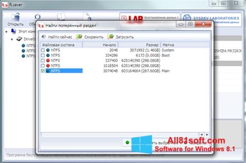 Petikan skrin R.saver untuk Windows 8.1