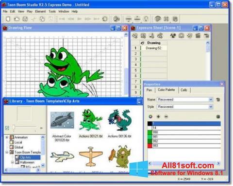 Petikan skrin Toon Boom Studio untuk Windows 8.1