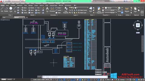 Petikan skrin AutoCAD Electrical untuk Windows 8.1