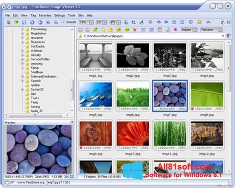 Petikan skrin FastStone Image Viewer untuk Windows 8.1