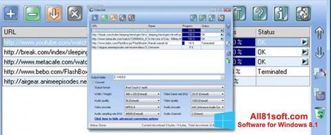 Petikan skrin VideoGet untuk Windows 8.1