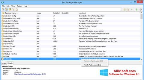 Petikan skrin ActivePerl untuk Windows 8.1