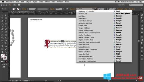 Petikan skrin Adobe Illustrator untuk Windows 8.1