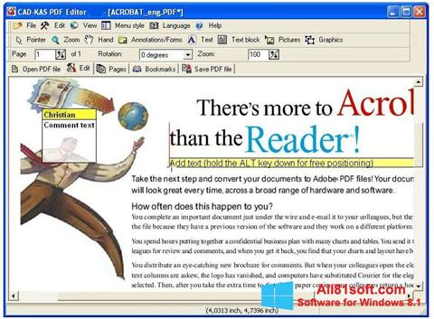 Petikan skrin PDF Reader untuk Windows 8.1
