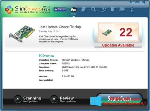 Petikan skrin SlimDrivers untuk Windows 8.1