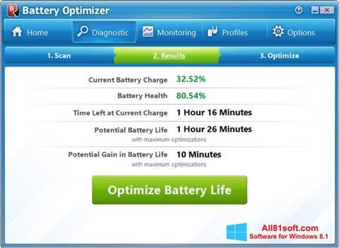 Petikan skrin Battery Optimizer untuk Windows 8.1