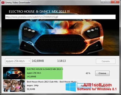 Petikan skrin Ummy Video Downloader untuk Windows 8.1