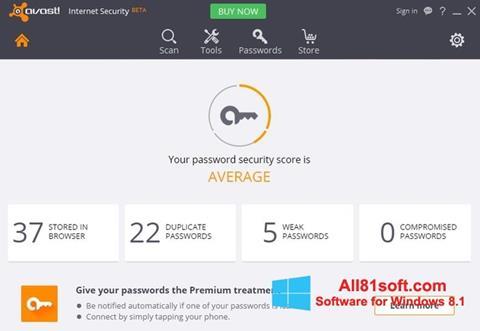 Petikan skrin Avast Internet Security untuk Windows 8.1