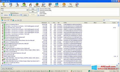 Petikan skrin eMule untuk Windows 8.1