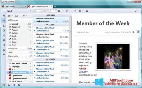 Petikan skrin Opera Mail untuk Windows 8.1