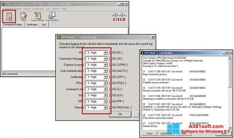 Petikan skrin Cisco VPN Client untuk Windows 8.1