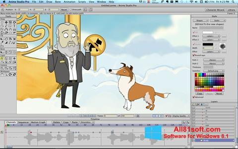 Petikan skrin Anime Studio untuk Windows 8.1