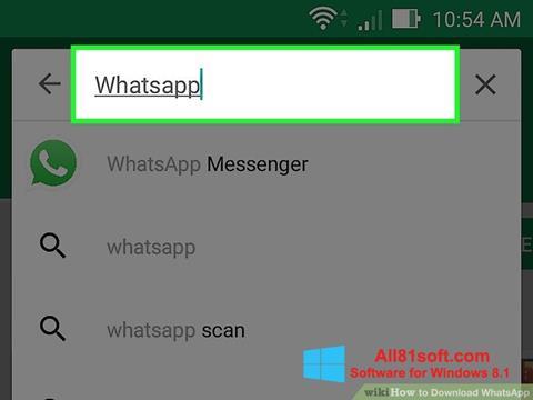 Petikan skrin WhatsApp untuk Windows 8.1