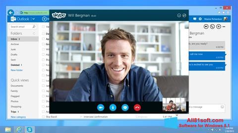 Petikan skrin Skype untuk Windows 8.1