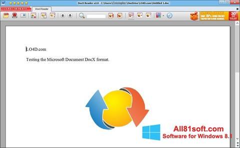 Petikan skrin DocX Reader untuk Windows 8.1